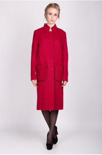 """Демисезонное пальто """"KORA"""" красное"""