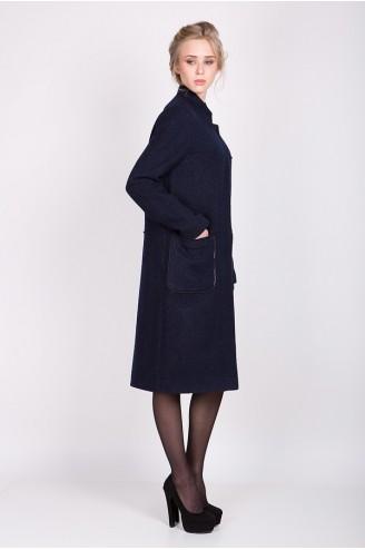 """Демисезонное пальто """"KORA"""" темно-синее"""