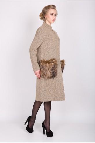 """Демисезонное пальто """"KORA"""" бежевое"""
