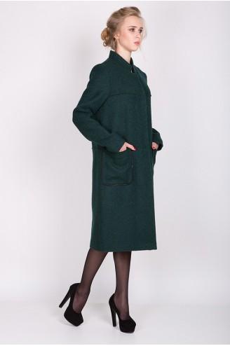"""Демисезонное пальто """"KORA"""" темно-зеленое"""