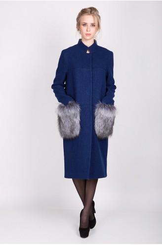 """Демисезонное пальто """"KORA"""" синее"""