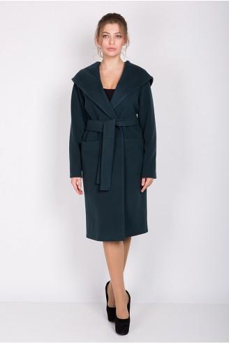 """Кашемировое пальто """"LADY C"""" темно-зеленое"""