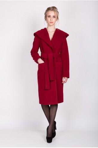 """Кашемировое пальто """"LADY C"""" бордо"""