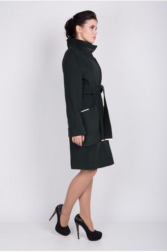 """Женское пальто """"ALBA"""" темно-зеленое"""