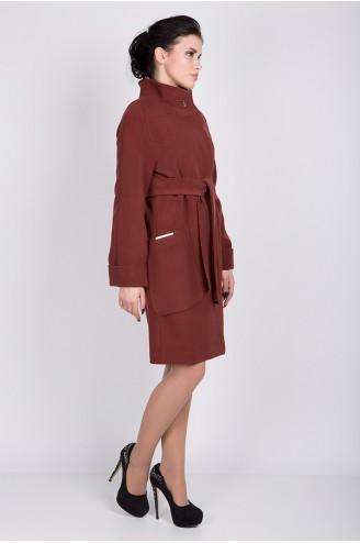 """Женское пальто """"ALBA"""" терракот"""