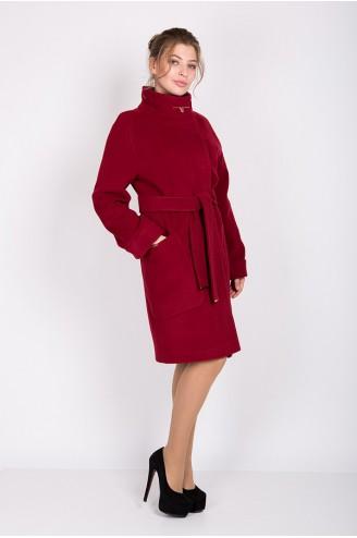"""Женское пальто """"ALBA"""" вишневое"""