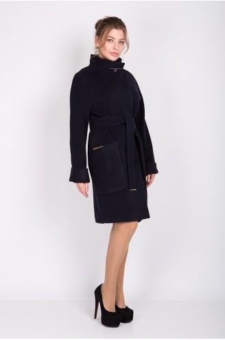 """Женское пальто """"ALBA"""" темно-синее"""