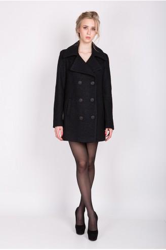 """Демисезонное пальто """"DORIS"""" черное"""