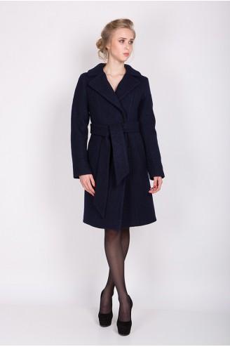 """Зимнее пальто """"ELIZABET"""" темно-синее"""