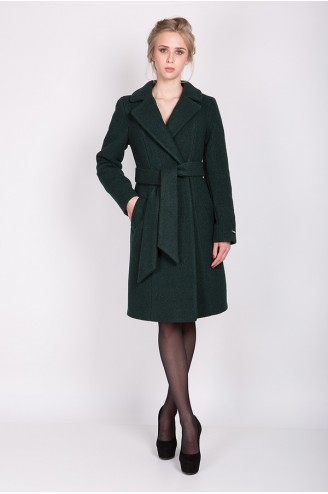 """Зимнее пальто """"ELIZABET"""" темно-зеленое"""