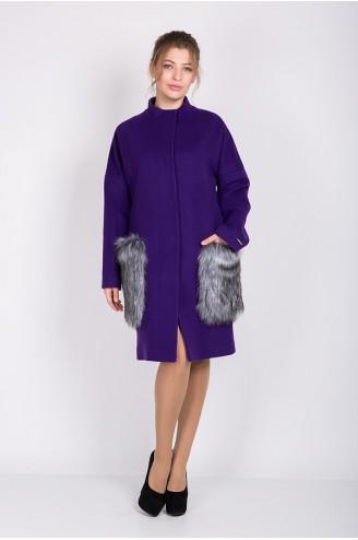 """Демисезонное пальто """"FOXY"""" фиолетовое"""