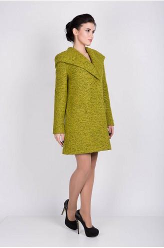 "Демисезонное пальто ""MELANKA"" букле оливка"