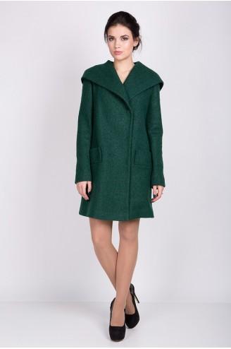 """Демисезонное пальто """"MELANKA"""" шерсть зеленое"""