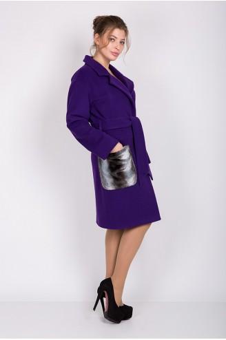 """Демисезонное пальто """"SHINE"""" фиолетовое"""
