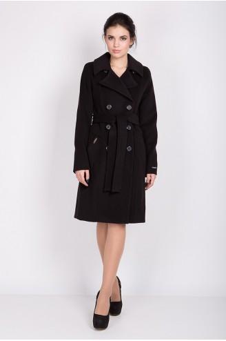 """Демисезонное пальто """"VERSAY"""" черное"""