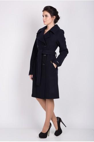 """Демисезонное пальто """"VERSAY"""" темно-синее"""