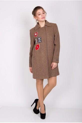 """Демисезонное пальто """"NIKI"""" бежевое"""