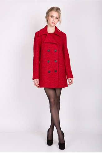 """Демисезонное пальто """"DORIS"""" красное"""