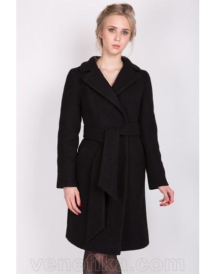 """Зимнее пальто """"ELIZABET"""" черное"""